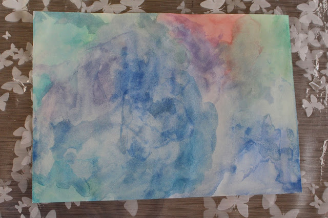 DIY watercolor back to school