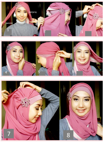 Hijab tutorial Simple and beautiful wedding | Hijab