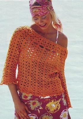 patrones de blusas a crochet gratis