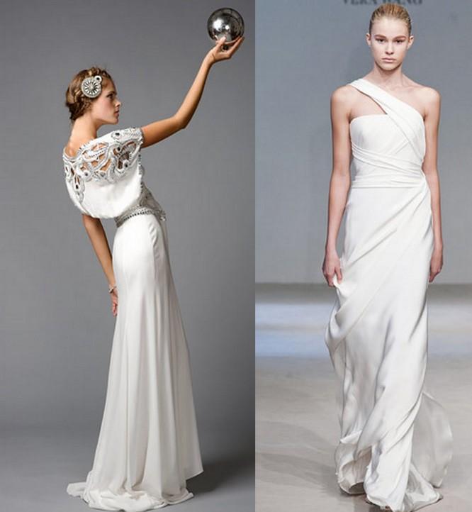 Sleek Inspired Wedding Dress Bridal Gown