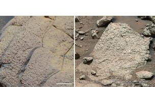 Batuan lempung yang di Bor Robot Curiosity