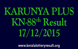 KARUNYA PLUS KN 88 Lottery Result 17-12-2015