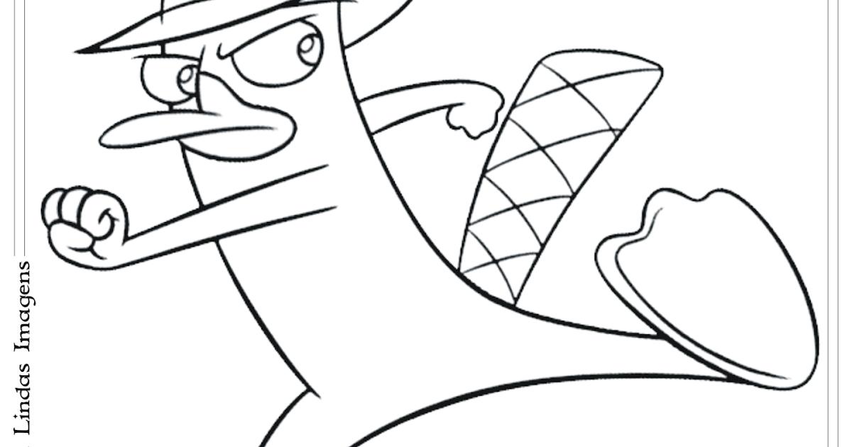 phineas e ferb perry o ornitorrinco desenho para colorir