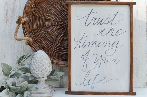 Create a personal piece of art by handwriting your favorite quote on a large board.  |  anderson + grant for Craftberry Bush