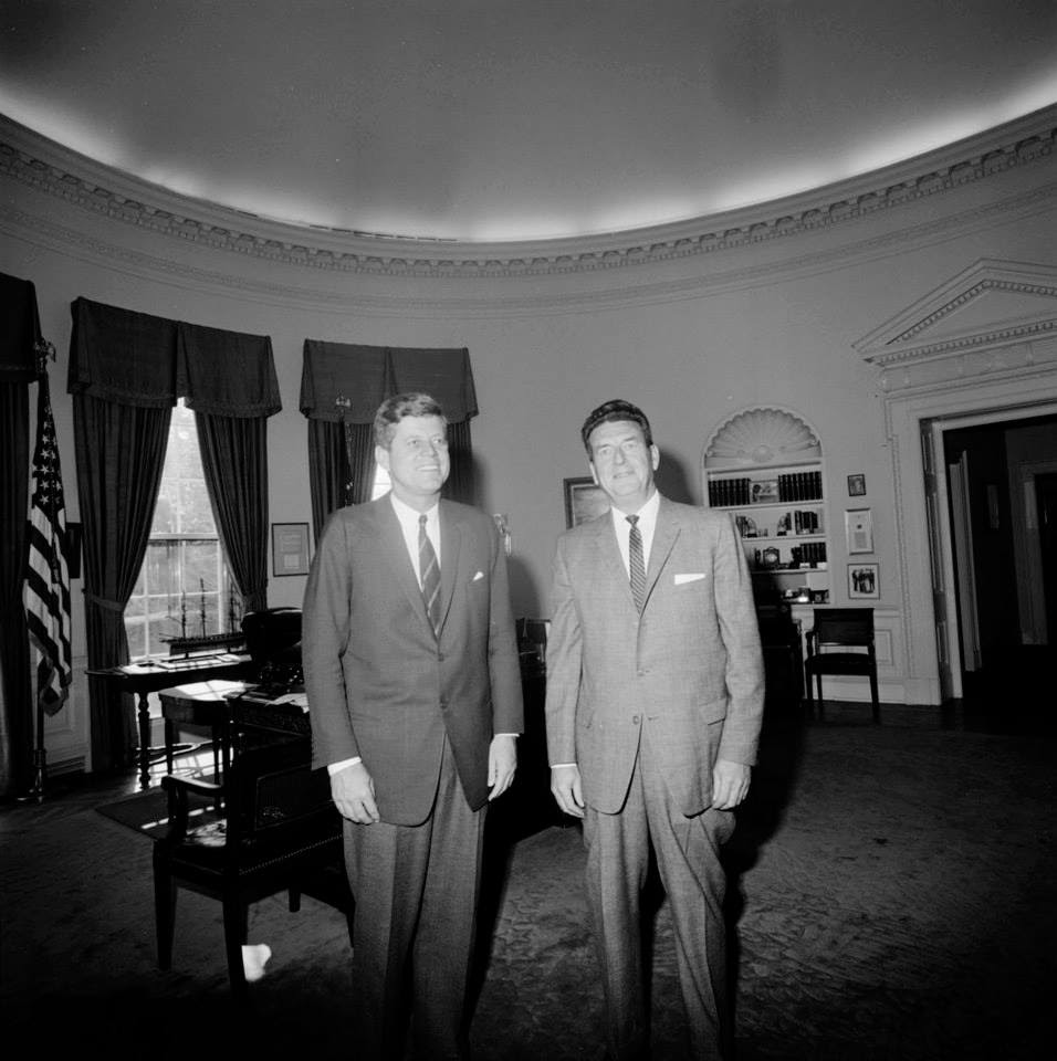 10/1/62: saying farewell to the departing ASAIC of the White House Detail, John Campion