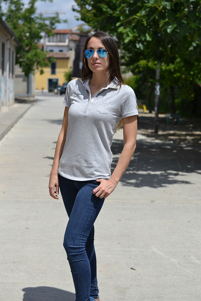 look con jeans e polo
