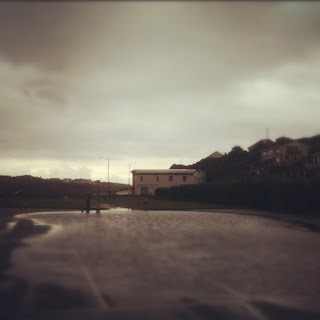 Flooding in Porth beach. Newquay