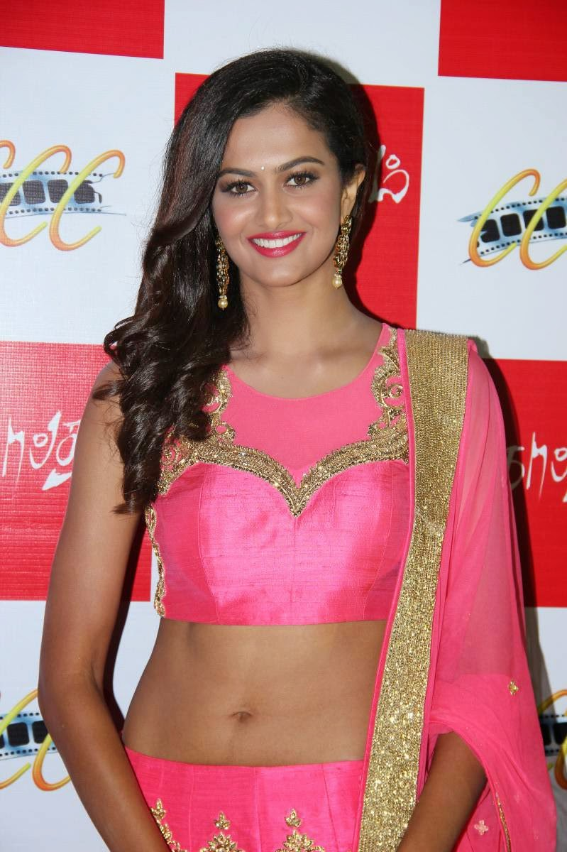 Actress Shubra Aiyappa Latest Cute Hot Navel Show Spicy Photos Gallery At Sagaptham Tamil Movie Audio Launch