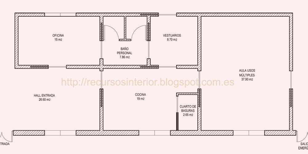 Dise ar un plano de zonificaci n recursos interior for Planta arquitectonica de una oficina