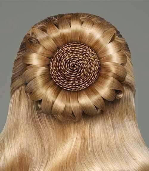 hermoso peinado femenino