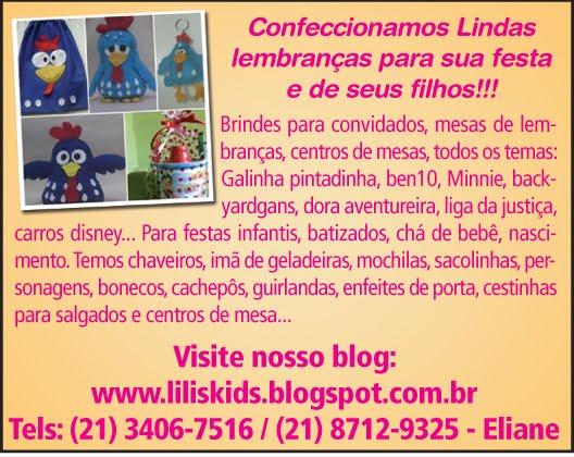Ateliê Lili's Kids Lembranças Temáticas