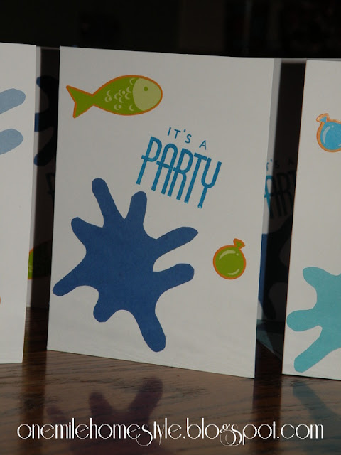 Water theme birthday party invites