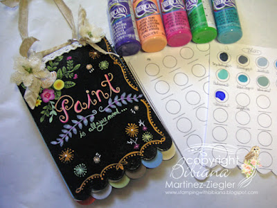 paint swatch book supplies