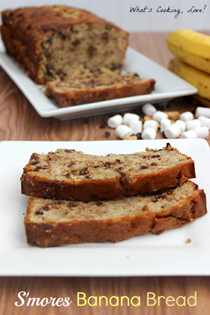 mores Banana Bread - Whats Cooking Love?