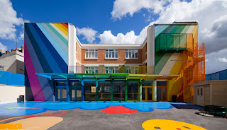 Colorful school in France