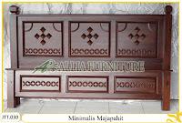 Tempat tidur ukiran kayu jati Minimalis Majapahit