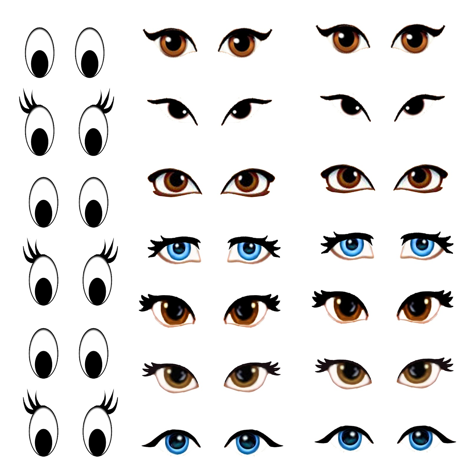 Monster image inside printable eyes template