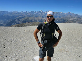 At the summit of Mont Chaberton 3131 m