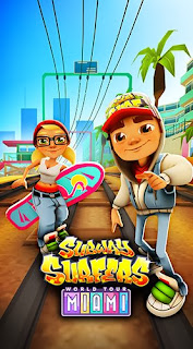 Screenshots of the Subway surfers: World tour Miami for Android tablet, phone.