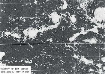 gerakan awan dari foto satelit