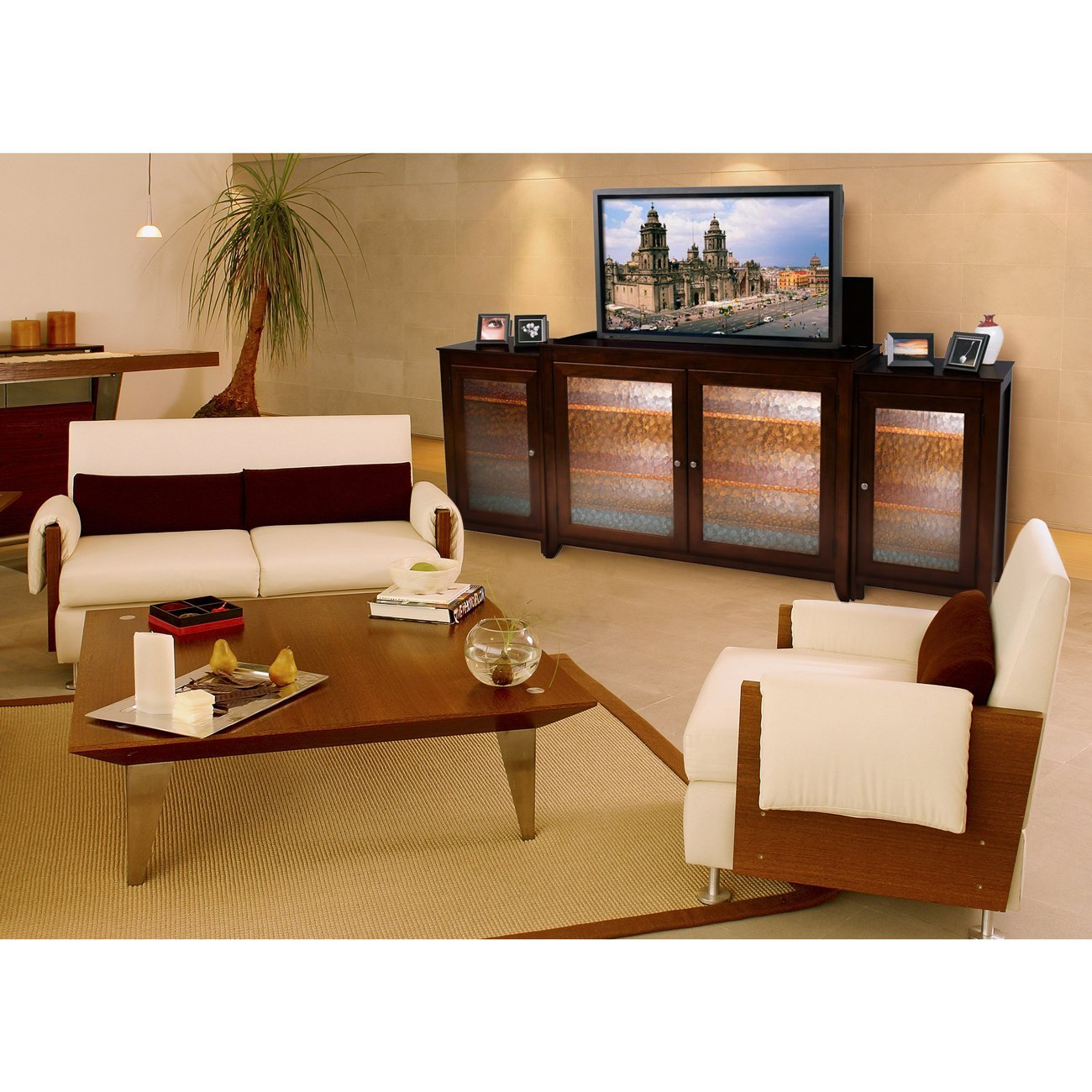 Pop up tv cabinet guide for cheap pop up tv cabinet online for Tv lift consoles for flat screens
