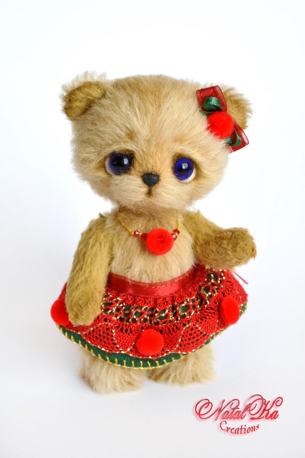 Artist teddy bear, artist bear, handmade teddy, ooak, mohair, teddy bear, handmade by NatalKa Creations, Künstlerteddy, Unikat, Teddys, Teddybär, Teddy, Bär, Mohair, handgemacht von NatalKa Creations