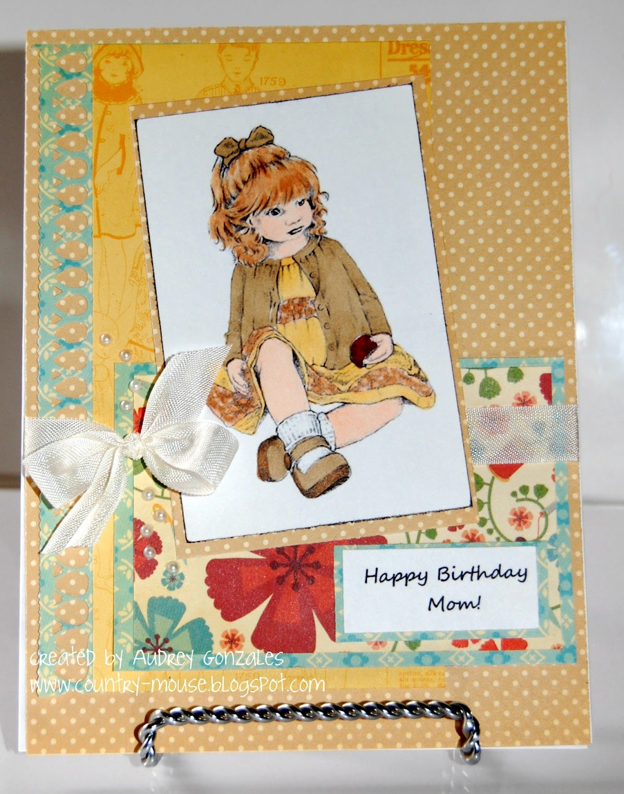 I Hope My Mom Enjoyed Her Day Also She Cake And Handmade Card Loves The Vintage Look So Made A Especially For