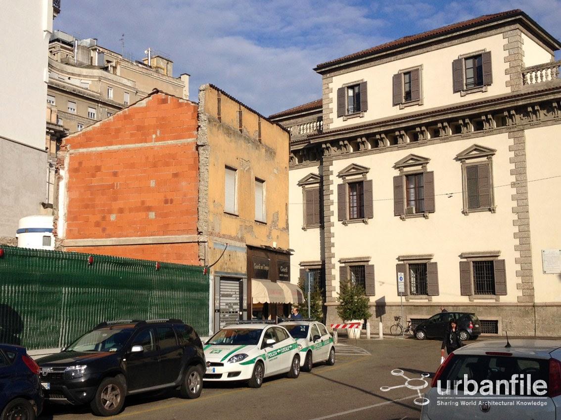 Urbanfile milano zona verziere finalmente la fine for Piazza beccaria