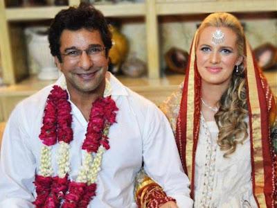 Waseem Akram Wedding Picture