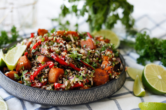 Quinoa Salad with Roast Pumpkin