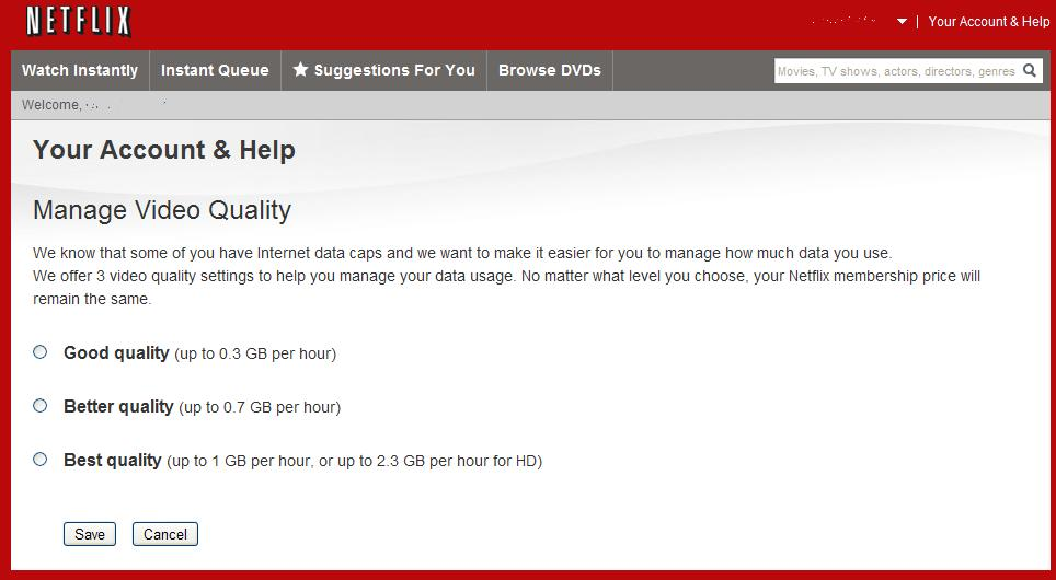 NetFlix has quietly implemented a change to turn down the quality of the ...