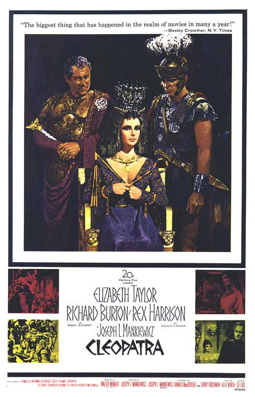 1963 Cleopatra movie poster
