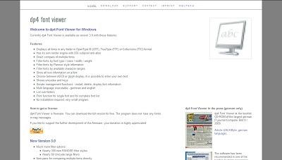 dp4 Font Viewer, Font Tool