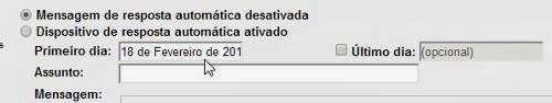 Email de reposta automática no Gmail