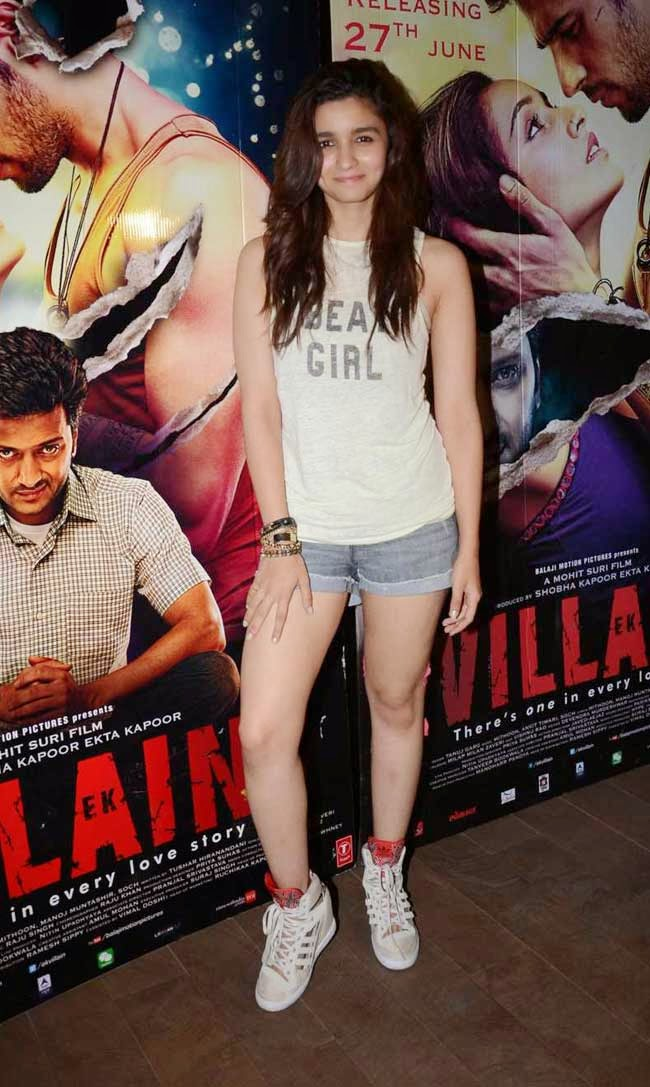 Actress Alia Bhatt at 'Ek Villain' Movie Special Screening