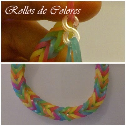 Rainbow loom pulseras gomas