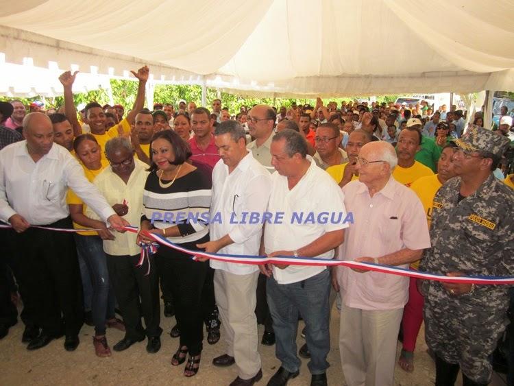 La UERS inaugura redes eléctricas Río Jagua y la Placeta