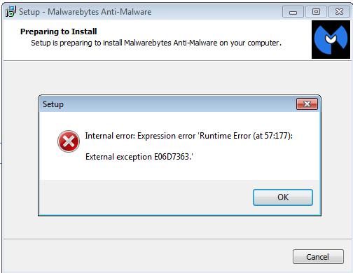 Malwarebytes runtime error