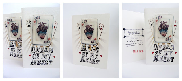 eat me, valentine, king of my heart, edible playing card, edible valentine, queen of hearts, illustration