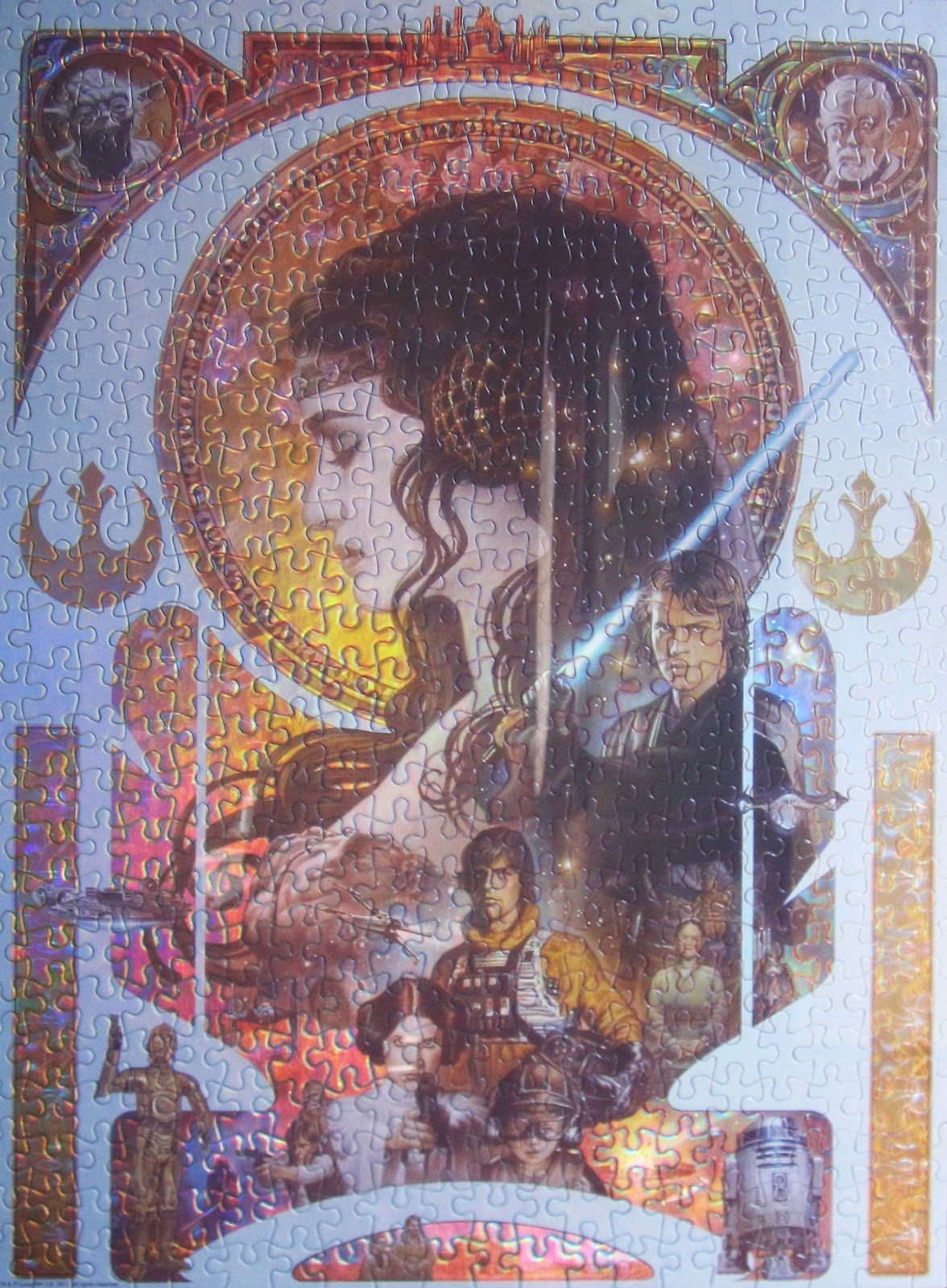 tones of holmes star wars art nouveau puzzle. Black Bedroom Furniture Sets. Home Design Ideas