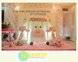 Pelamin Buaian Berendoi Warna Pastel Baby Pink Cream