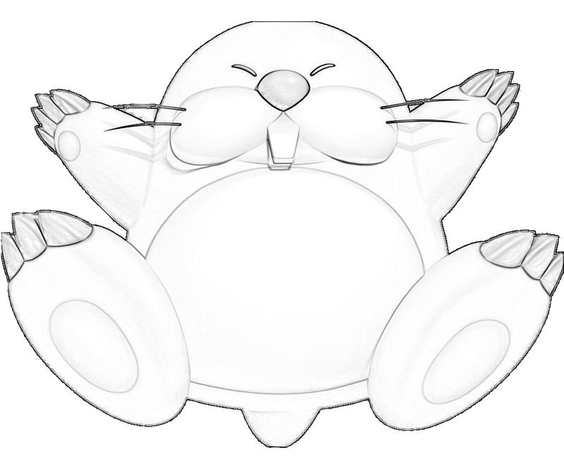 monty-mole-character-coloring-pages