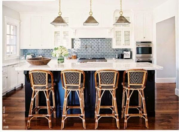 subway tile navy blue island marble quartz countertop