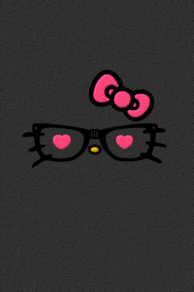 Hello Nerdy Kitty Face WallpapersHello Kitty Face Black Background