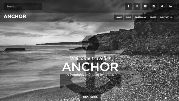 Animated Parallax Drupal Theme