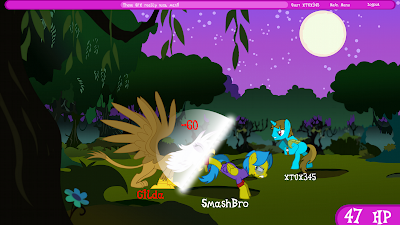 Another fake screenshot, this one featuring a fake battle scene with Gilda