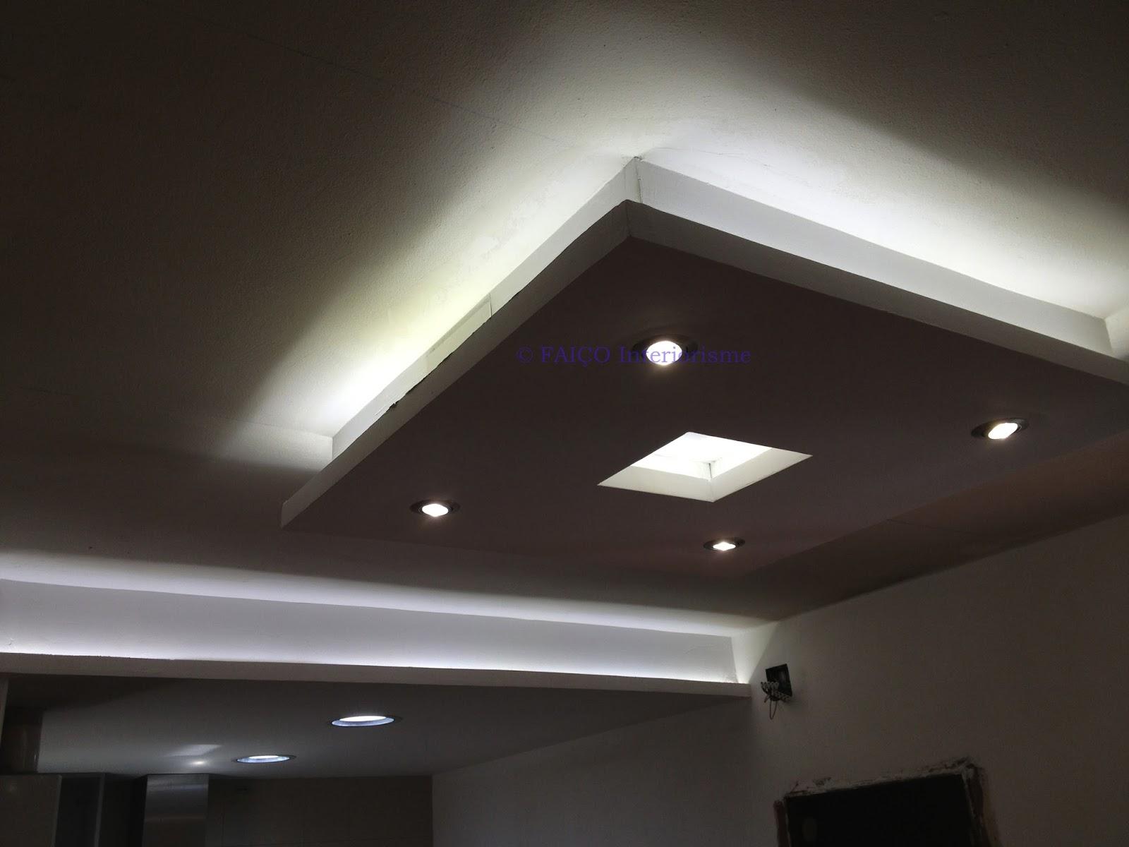 Fai o interiorisme llobregat hospitalet for Como poner pladur en el techo
