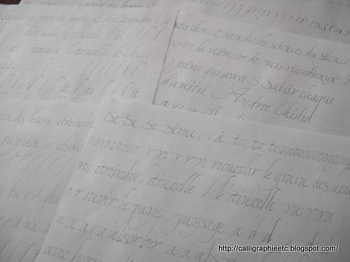 Calligraphie tatouage lettres entrelacées Excessial
