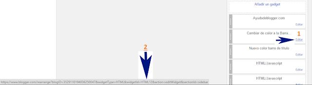¿Cómo cambiar de color la barra de títulos de cualquier widget de Blogger?