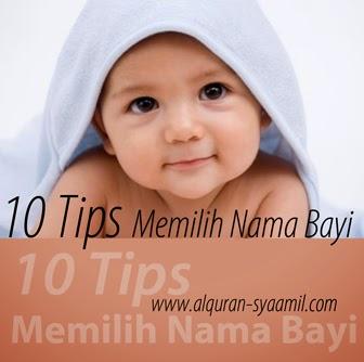 10 tips memilih nama bayi